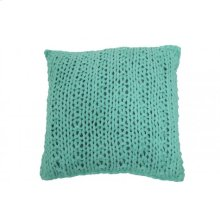 Pillow 50x50 cm DAGNY mint knitted