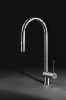 Vela SD : the latest addition to the Vela family . An evolution of the very successful Vela D, with a taller and sleeker spout, longer lever and hand held.