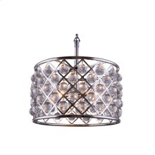 """1204 Madison Collection Chandelier D:20"""" H:13"""" Lt:6 Polished nickel Finish (Royal Cut Crystals)"""