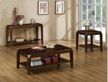 COFFEE TABLE - BROWN OAK VENEER / COCKTAIL TABLE