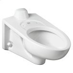 American StandardAfwall Millennium 1.1-1.6 gpf Back Spud Elongated Bowl with EverClean  American Standard - White