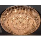 Crystal Flush Mount Lamp, Chrome/crystals, Type Jc/g4 20wx24 Product Image