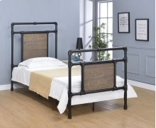 Elkton Bed - Twin, Matte Black Finish