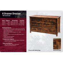 Six Drawer Dresser - Barnwood