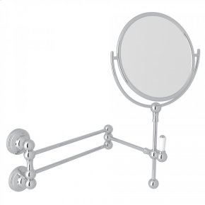 Polished Chrome Perrin & Rowe Edwardian Wall Mount Shaving Mirror