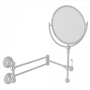 Polished Chrome Perrin & Rowe Edwardian Wall Mount Shaving Mirror