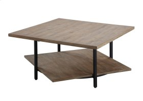 Emerald Home Turner Square Cocktail Table W/swivel Top Driftwood T655-00
