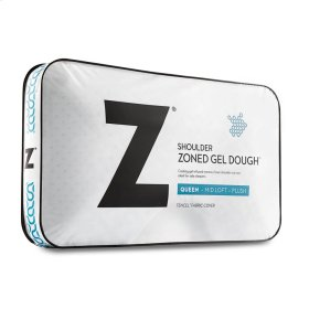 Zoned Gel Dough Shoulder Cutout Pillow, Queen