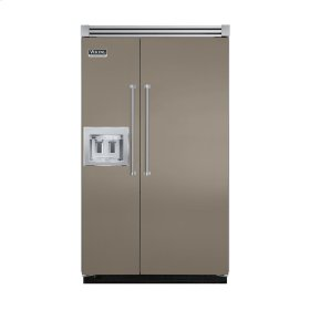 "Stone Gray 48"" Quiet Cool™ Side-by-Side with dispenser - VISB Tru-Flush™ (48"" wide)"
