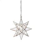 Medium Clear Star Chandelier. Product Image