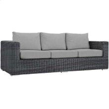 Summon Outdoor Patio Sunbrella® Sofa in Canvas Gray