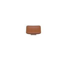 Scalloped Square Medm Savile In Tan Leather