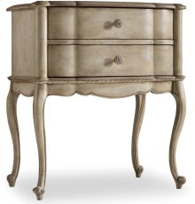 Sanctuary Two Drawer Leg Nightstand-Pearl Essence