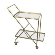 2-tier Gold Mirror Bar Cart