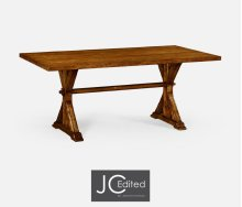 "72"" Solid Country Walnut Dining Table"