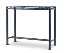 Augustine Metal Bar Table W/ Tempered Glass