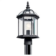 Barrie 1 Light Post Mount with LED Bulbs Black