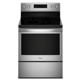 Whirlpool® 5.3 cu. ft. Freestanding Electric Range with Fan Convection Cooking - Fingerprint Resistant Stainless Steel