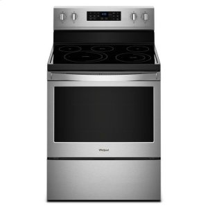 Whirlpool® 5.3 cu. ft. Freestanding Electric Range with Fan Convection Cooking - Fingerprint Resistant Stainless Steel Product Image