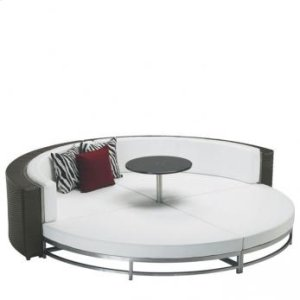 Woven Round Party Lounger Panel