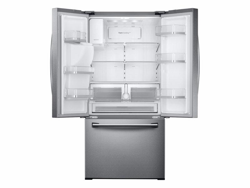 Rf26j7500srsamsung 26 Cu Ft 3 Door French Door Refrigerator With
