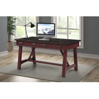 Americana Modern Cranberry 60 in. Writing Desk Product Image