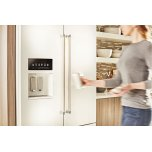 Kitchenaid 26.8 Cu. Ft. 36-Inch Width Standard Depth French Door Refrigerator With Exterior Ice And Water - White