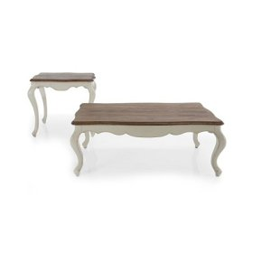 Bella Sandralena Coffee Table Ivory/Natural Top