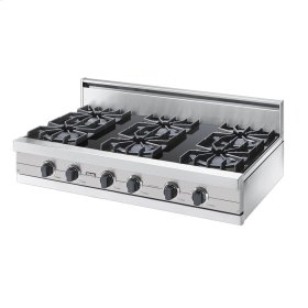 "Metallic Silver 42"" Open Burner Rangetop - VGRT (42"" wide, six burners)"