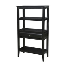 "Sedona ""Antique Black"" Short Bookshelf"