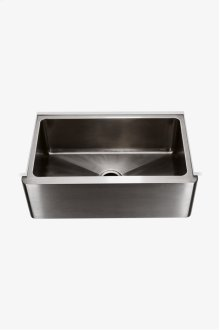 """Kerr 30"""" x 18"""" x 10 1/8"""" Stainless Steel Farmhouse Apron Kitchen Sink with Center Drain STYLE: KRSK72"""