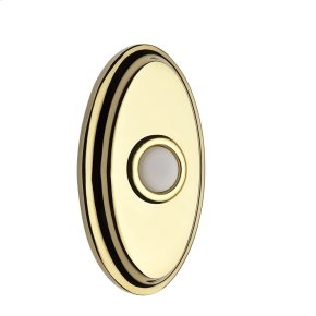 Polished Brass BR7016 Oval Bell Button