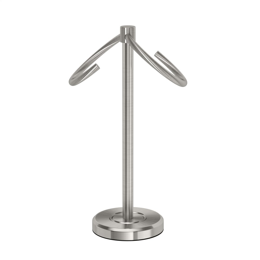 Latitude2 Minimalist Towel Holder in Satin Nickel