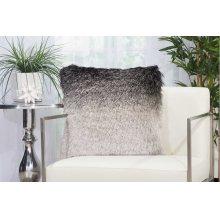 """Shag Tr011 Black/silver 20"""" X 20"""" Throw Pillows"""