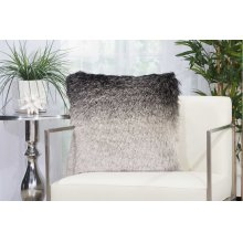 "Shag Tr011 Black/silver 20"" X 20"" Throw Pillows"