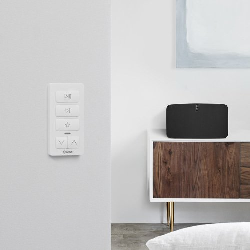 White- Play music instantly with the press of a button.
