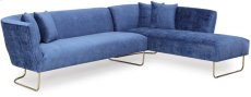 Caprice Navy Velvet RAF Sectional Product Image