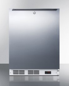 ADA Compliant Commercial Built-in Medical All-freezer Capable of -25 C Operation, With Wrapped Stainless Steel Door, Horizontal Handle, and Lock