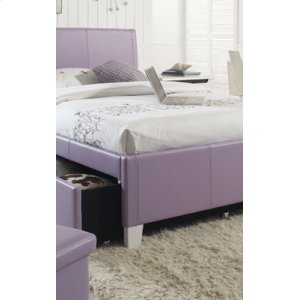 White Uph. Trundle Hdbd, 4/6