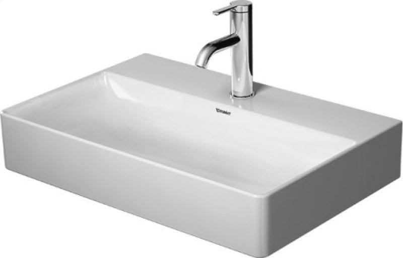 Durasquare Furniture Washbasin Compact Ground Without Faucet Hole