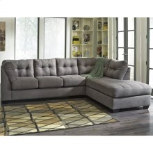 Benchcraft Maier Sectional with Right Side Facing Chaise in Charcoal Microfiber [FBC-2349RFSEC-CRC-GG]