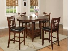 HARTWELL COUNTER HEIGHT EXTENSION DINING TABLE W/4 SIDE CHAIRS