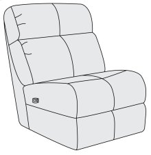 McGwire Power Motion Armless Chair