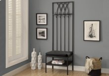 "BENCH - 72""H / BLACK HAMMERED METAL HALL ENTRY"