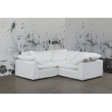 Sunset Trading Cloud Puff Slipcovered 3 Piece Modular Sectional Sofa - 391081