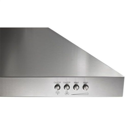 """30"""" Contemporary Stainless Steel Wall Mount Range Hood - stainless steel"""