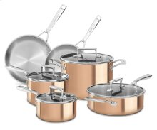 Tri-Ply Copper 10-Piece Set - Satin Copper