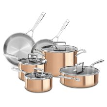 Tri-Ply Copper 10-Piece Set - Satin Copper