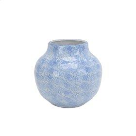 """Light Blue/white Vase 8.25"""""""