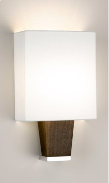 FLUORESCENT BOUTIQUE CAPRI SINGLE SCONCE - BRUSHED ALUMINUM/EBONY
